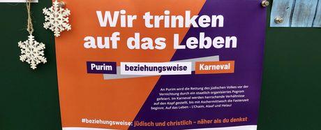 Schaukastenplakat zu 1700 Jahre jüdisches Lebens in Deutschland