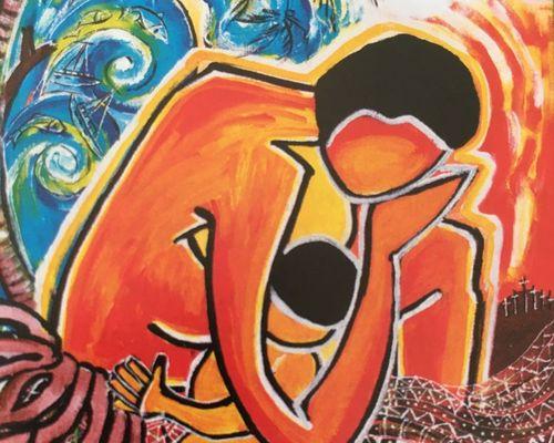 Bild einer Künstlerin aus Vanuatu